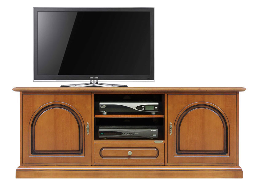 meuble tv bas classique 2 portes meuble tv en bois meuble de rangement ebay. Black Bedroom Furniture Sets. Home Design Ideas