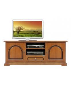 Meuble Tv bas classique 2 portes Arteferretto
