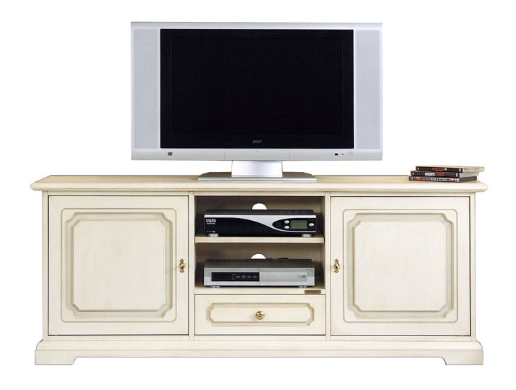 meuble banc tv laqu 150 cm largeur meuble tv hi fi en bois livr mont ebay. Black Bedroom Furniture Sets. Home Design Ideas