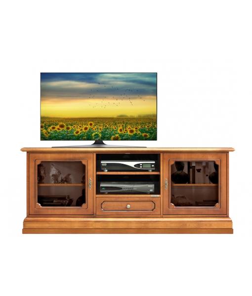 Banc Tv classique portes vitrées Arteferretto, Réf. 3059-LV