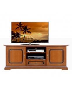 Meuble Tv bas classique 2 portes 1 tiroir Arteferretto