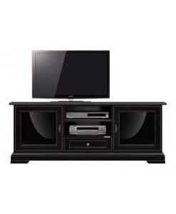 Meuble tv noir design exclusif Arteferretto