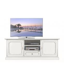 Meuble Tv bas laqué 2 portes 1 tiroir Arteferretto