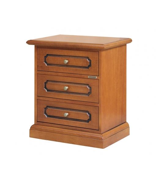table de chevet classique, table de chevet, table de chevet en bois, zone nuit, amueblement pour la zone nuit, Réf. 3060-S