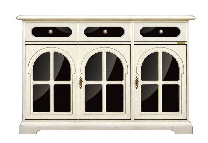 Meuble buffet design 3 portes plexiglass noir bahut - Meuble plexiglas design ...
