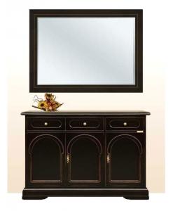 buffet et miroir, buffet noir avec miroir, ameublement classique