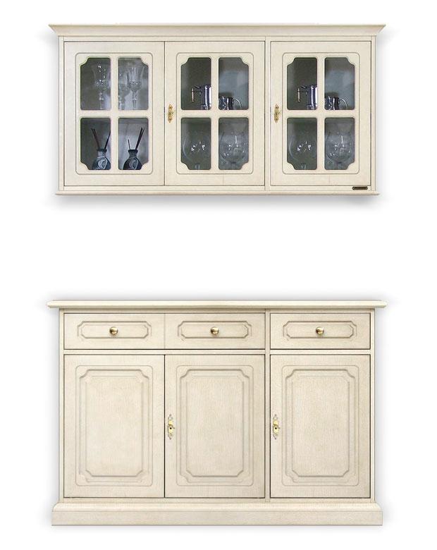 Buffet et vitrine buffet en bois laqu vitrine murale for Buffet et vitrine