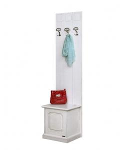 Vestiaire laqué largeur 50 cm pour l'entrée, vestiaire, patère, porte manteau blanc, coffre pour l'entrée