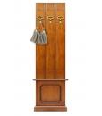 Vestiaire d'entrée largeur 50 cm avec coffre, vestiaire, patère, porte manteau pour l'entrée, meubles classiques pour le hall d'entrée