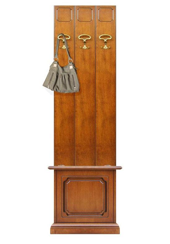 Vestiaire d 39 entr e largeur 50 cm avec coffre lamaisonplus for Porte manteau contemporain bois