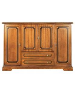 meuble buffet classique, buffet polyvalent, rangement, buffet classique en bois
