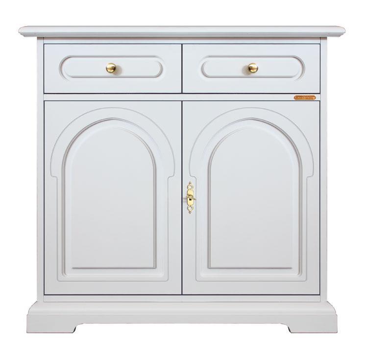 Meuble buffet classique blanc lamaisonplus for Largeur porte classique