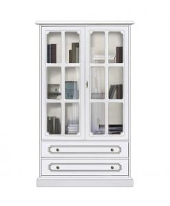 Petite vitrine classique 2 portes à croisillons