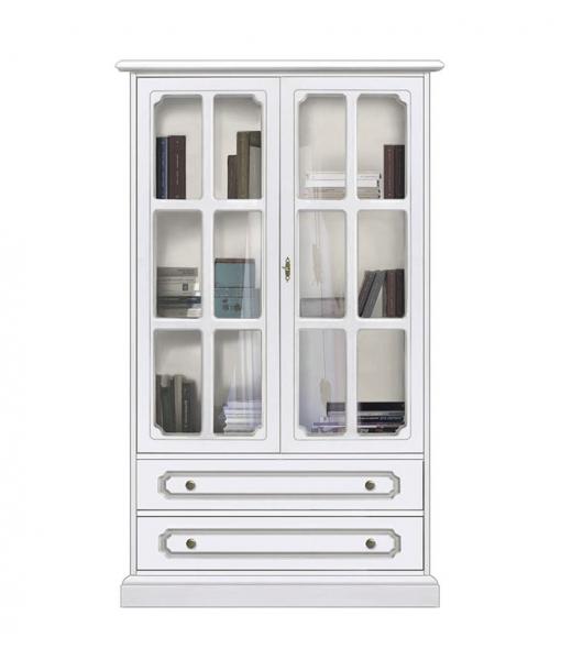 Petite vitrine classique 2 portes à croisillons, Réf. 3133-AV