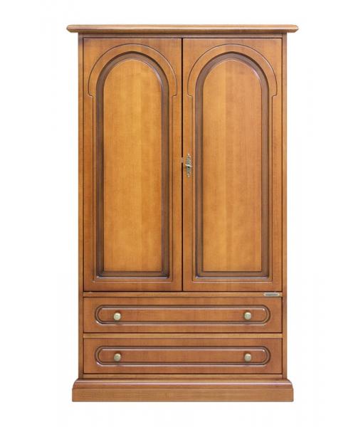 Armoire 2 portes 2 tiroirs, armorie de rangement, petite armoire en bois