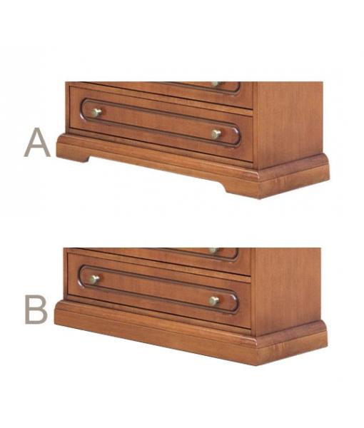 Armoire 2 portes 2 tiroirs réf. 3142-C - Versions