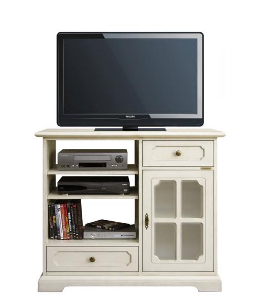 Meuble tv 1 porte 2 tiroirs lamaisonplus for Meuble tv petite largeur