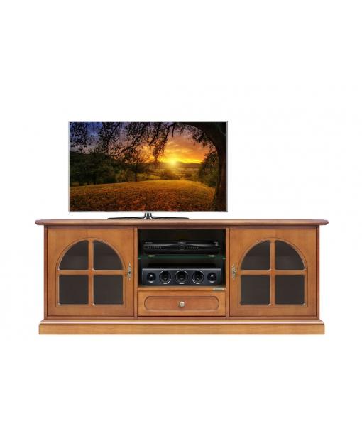 meuble tv classique portes vitr es lamaisonplus. Black Bedroom Furniture Sets. Home Design Ideas