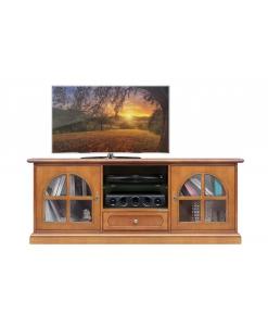 Meuble Tv classique portes vitrées Arteferretto