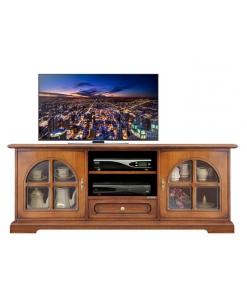 Meuble tv bas classique portes crois es lamaisonplus - Meuble tv classique ...