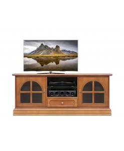 Meuble banc tv classique portes vitrées Arteferretto