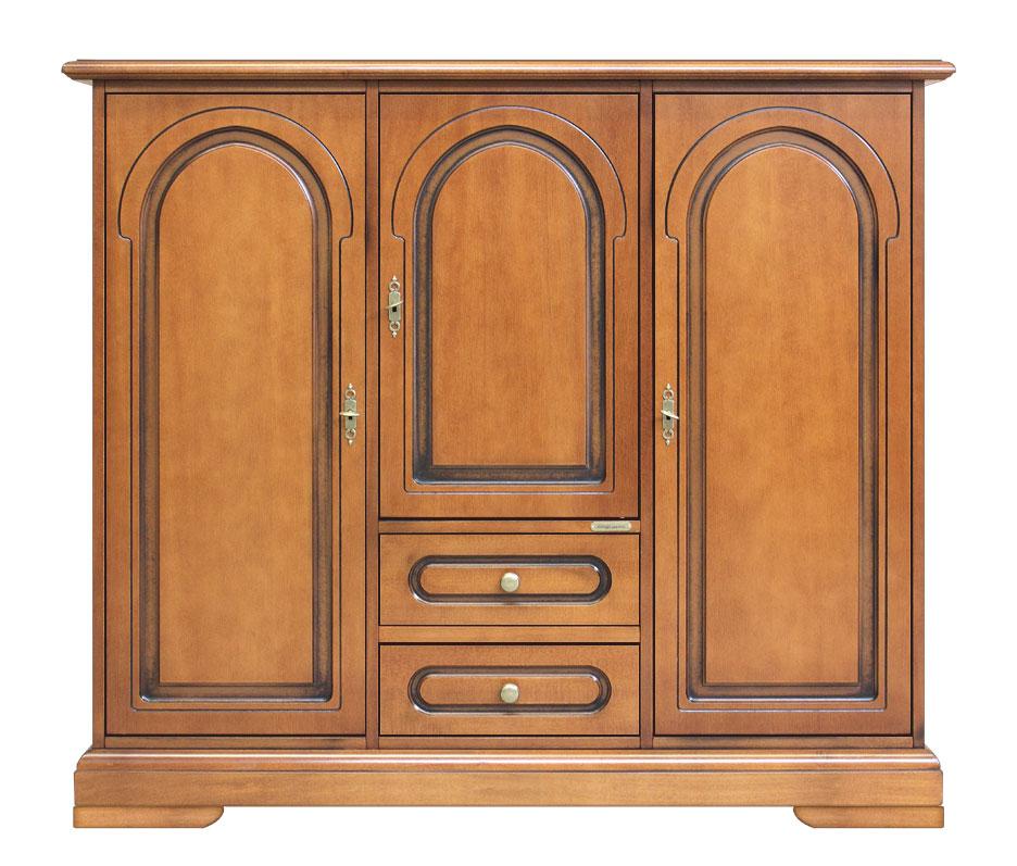Meuble buffet classique 3 portes 2 tiroirs lamaisonplus for Meuble 3 portes moderna