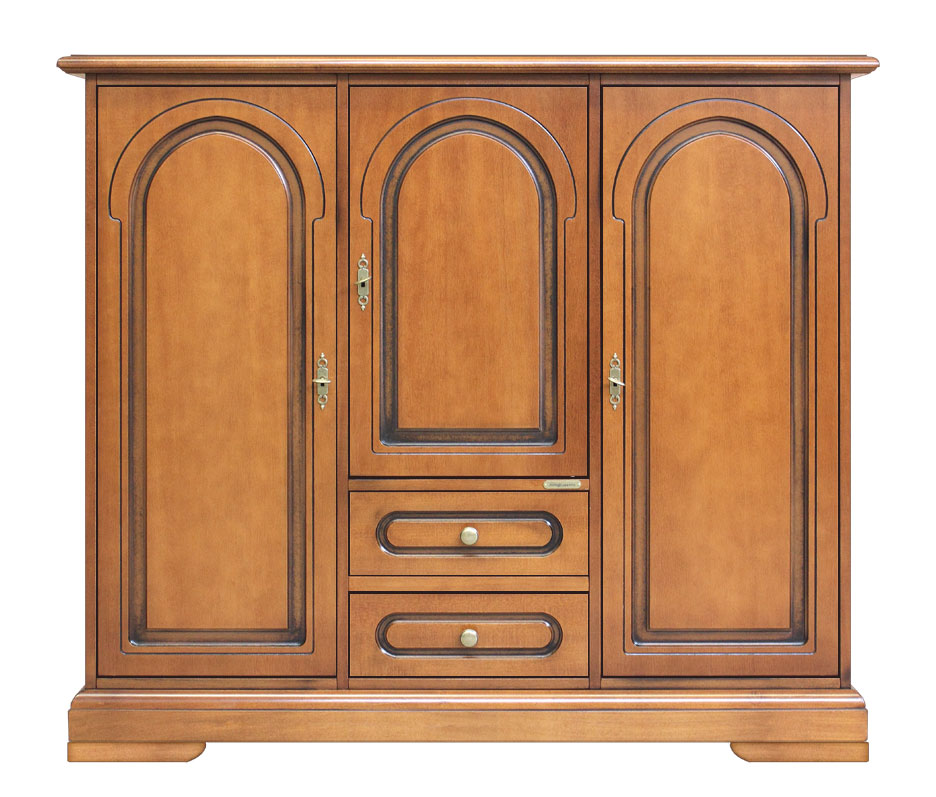 buffet bas 3 portes bahut meuble polyvalent rangement cuisine ebay. Black Bedroom Furniture Sets. Home Design Ideas