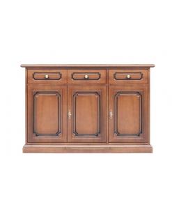 buffet, meuble buffet 3 portes, buffet style classique, meuble buffet petites dimensions en bois