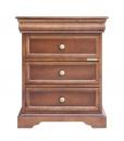 Table de chevet Louis Philippe, table de chevet, chevet 3 tiroirs, chevet classique, chevet louis philippe