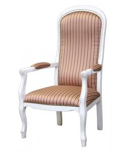 fauteuil, fauteuil laqué, fauteuil blanc