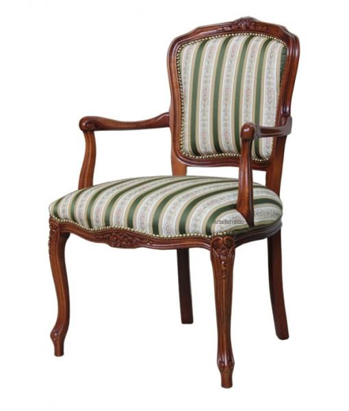 Fauteuil Parisienne, fauteuil classique en bois