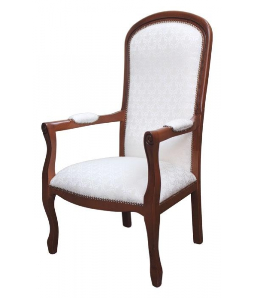 fauteuil, fauteuil Voltaire, fauteuil en bois, fauteuil classique, ameublement de style pour la maison, ameublement pour le salon