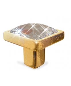 Poignée de meuble Swarovski or, poignée, poignée de meuble, bouton de meuble