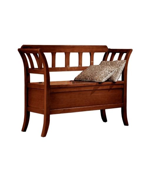 banc coffre d 39 entr e classique en bois lamaisonplus. Black Bedroom Furniture Sets. Home Design Ideas