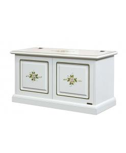 Coffre banc de rangement décoré en bois