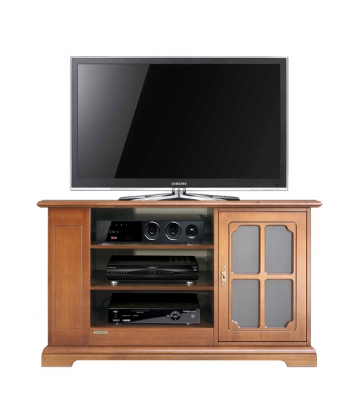 meuble tv de style avec porte vitr e lamaisonplus. Black Bedroom Furniture Sets. Home Design Ideas