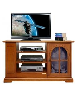 meuble tv classique, meuble tv avec porte vitrée, meuble tv en bois, meuble pour le salon