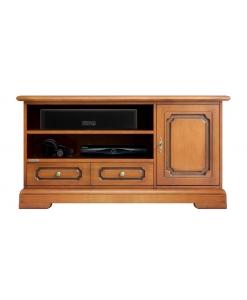 meuble tv hi-fi, meuble tv en bois, meuble tv classique, meuble tv pour barre de son, ameublement classique, ameublement de style