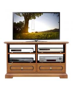 meuble tv 2 tiroirs, meuble tv en bois, meuble tv classique, ameublement de style, ameublement pour le salon
