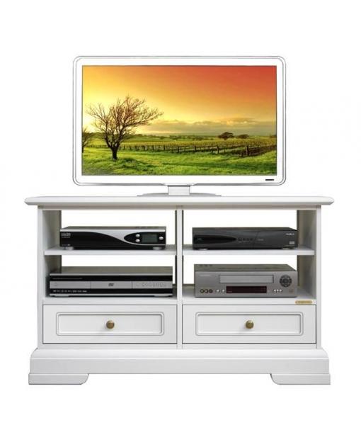 meuble tv bas classique 2 tiroirs lamaisonplus. Black Bedroom Furniture Sets. Home Design Ideas