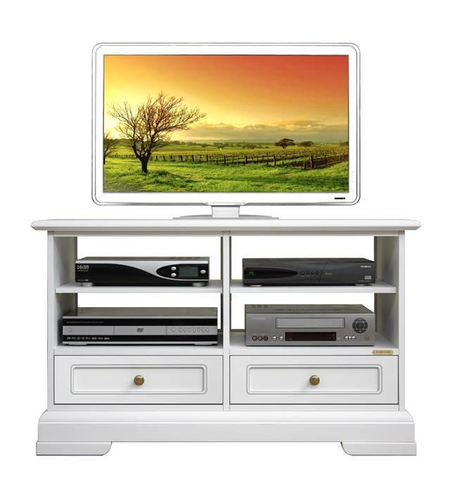 Meuble tv bas classique 2 tiroirs lamaisonplus - Meuble tv classique ...