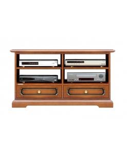 meuble tv, meuble tv en bois, meuble tv avec 2 tiroirs, ameublement pour le salon