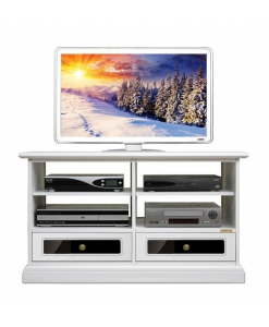 Meuble Tv 2 tiroirs, meuble tv laqué, meuable tv de style, meuble tv classique