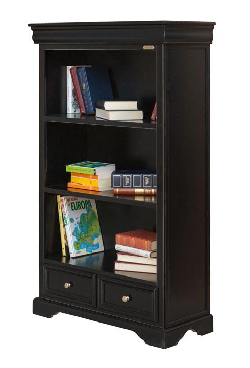 biblioth que louis philippe noire lamaisonplus. Black Bedroom Furniture Sets. Home Design Ideas
