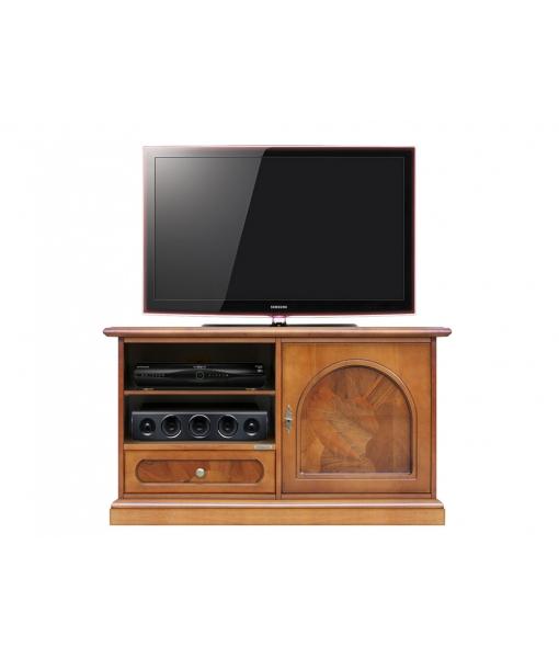 meuble tv 1 porte 1 tiroir ronce de noyer lamaisonplus. Black Bedroom Furniture Sets. Home Design Ideas