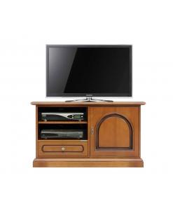 Meuble tv en bois 1 porte 1 tiroir Arteferretto