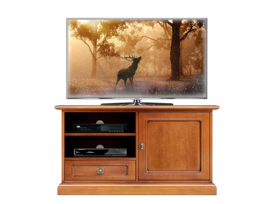 Meuble Tv Design Classique 150 Cm Largeur Lamaisonplus # Meuble Tele Cerisier
