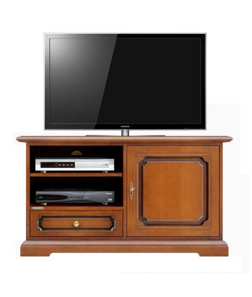 Meuble tv midi avec porte et tiroir lamaisonplus for Meuble avec cachette