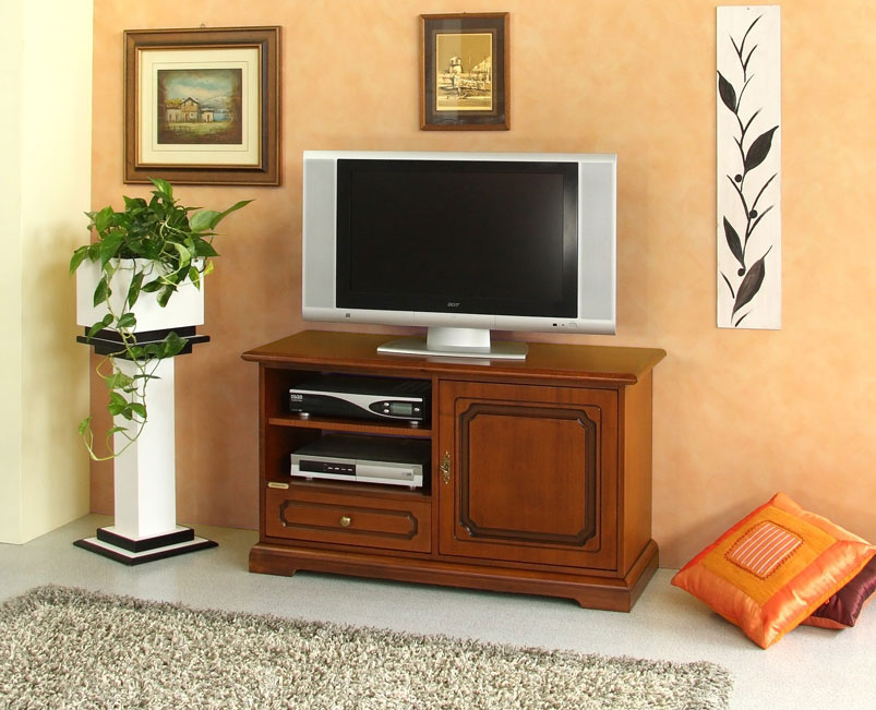 Meuble tv taille moyenne avec tiroir lamaisonplus - Meuble tv grande taille ...