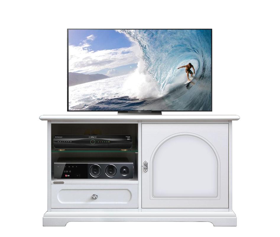 Meuble tv 1 porte 1 tiroir et tag res lamaisonplus for Meuble tv et etagere